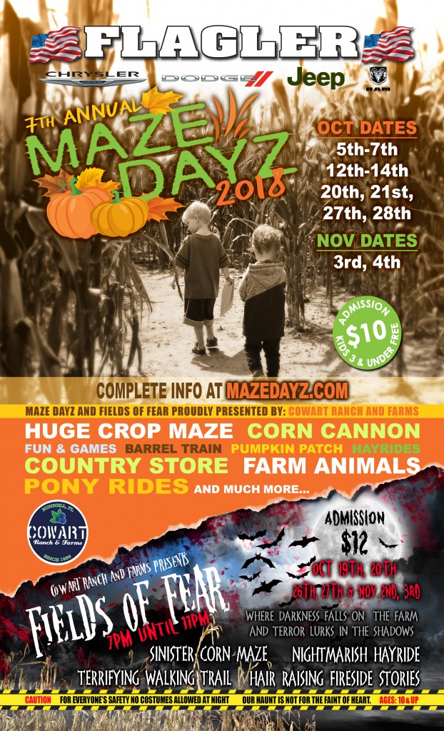 Maze Dayz flyer pumpkin patch fall festival farm family entertainment