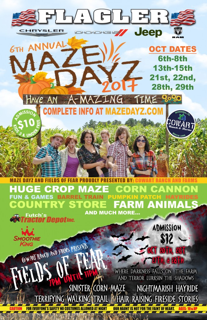 MazeDayz Fall Festival Haunted attraction pumpkin patch 2017